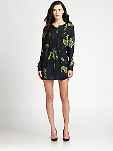 A.L.C. - Simona Floral-Print Silk Shirtdress - Saks Fifth Avenue Mobile