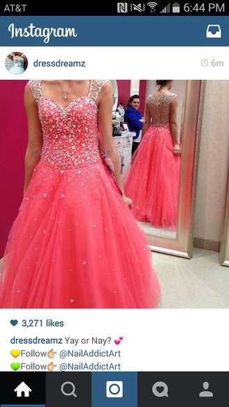 dress homecoming pink jewel prom dress