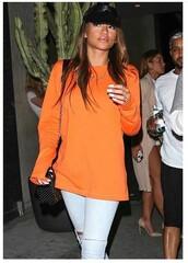 sweater,orange,hipster