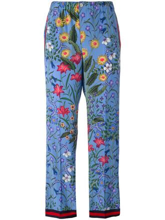 women new cotton blue silk pants