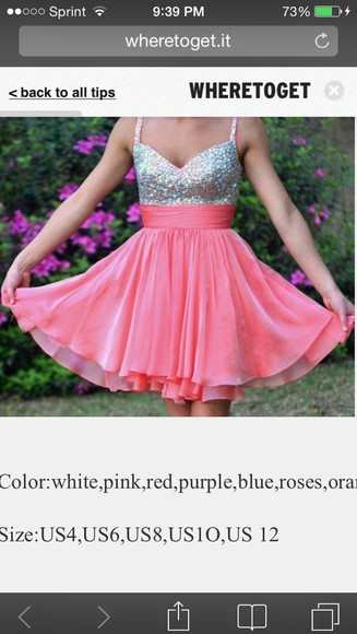 pink sunglasses homecoming dress silver sparkly