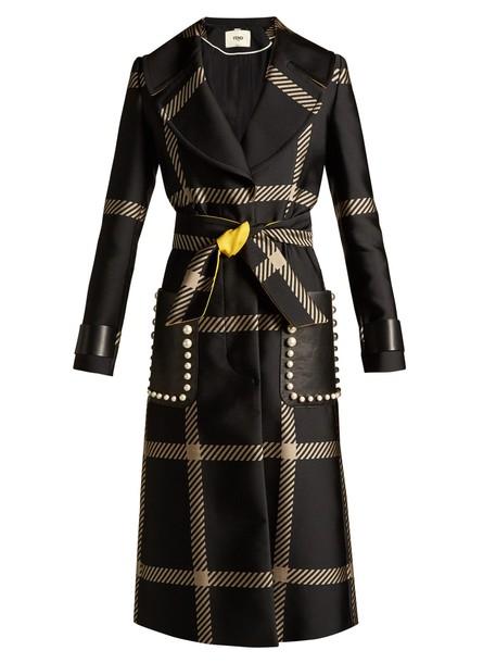 Fendi coat white black