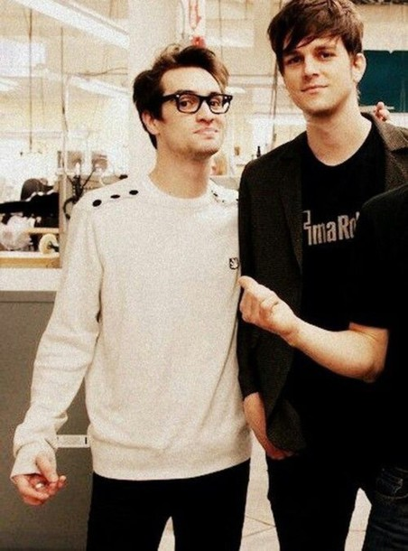 sweater white white sweater brendon urie brendonurie buttons logo logo sweater urie brendon mens sweater