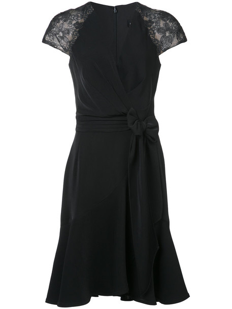 dress wrap dress women spandex lace cotton black
