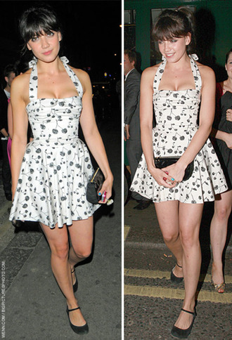 ballerina black shoes white dress cherry cherries daisy lowe