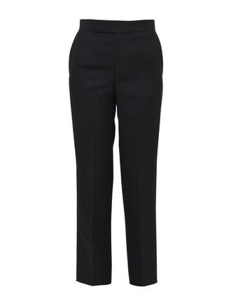 back slit black pants