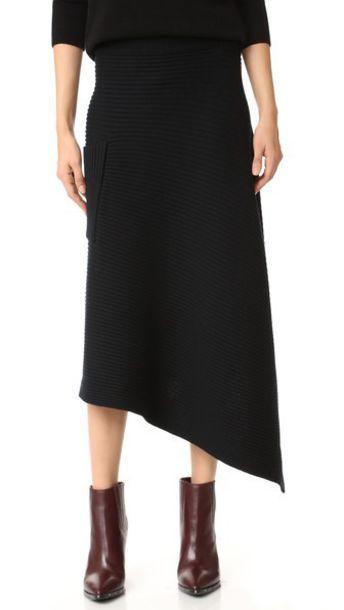 Skirt Wrap Skirt Origami Black Wheretoget