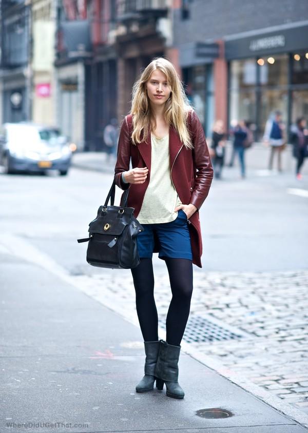 coat shorts t-shirt bag shoes