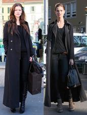 coat,black,boyfriend coat,maxi dress,maxi cardigan,winter outfits,jacket,mantel,maxi