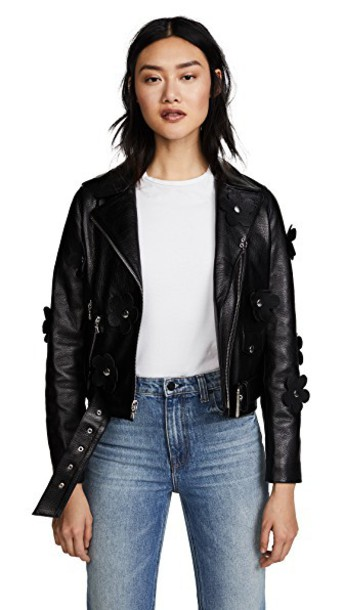 Sandy Liang jacket leather jacket leather black