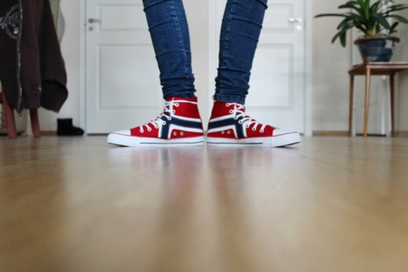 red blue flag shoes norway converse sneakers