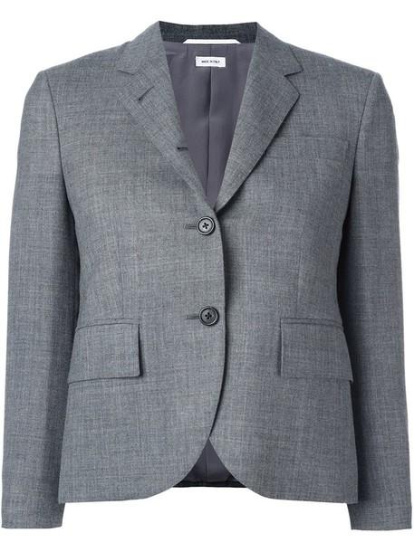 coat women classic wool grey