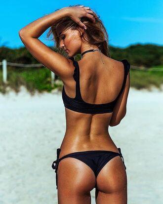 swimwear black swimwear bikini bikini top bikini bottoms black bikini