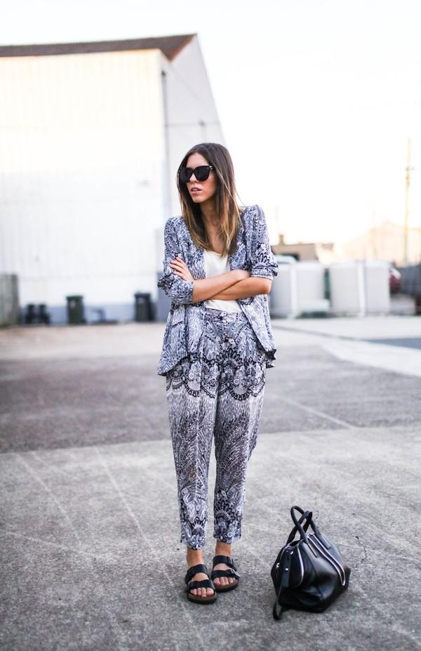 modern legacy jacket pants tank top shoes bag sunglasses