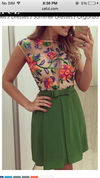 dress embroidered