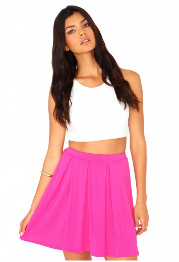 Elayna Pleated Skater Skirt - Skirts - Missguided