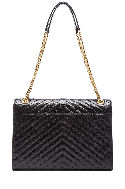Saint Laurent|Large Monogramme Chain Bag in Black