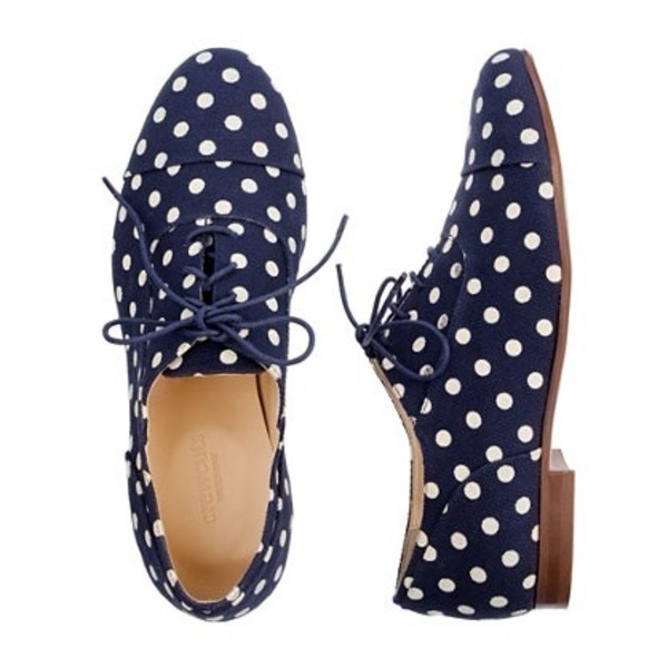 shoes oxfords polka dots