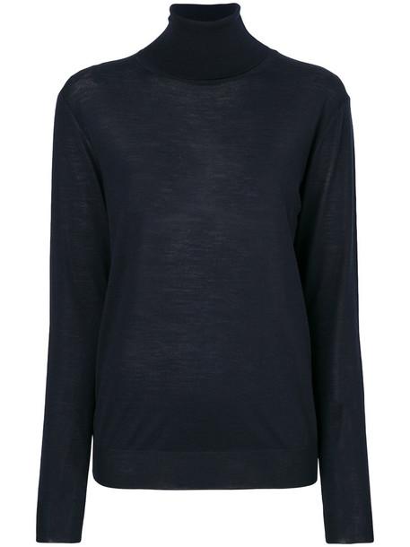 Stella McCartney jumper turtleneck women blue wool sweater