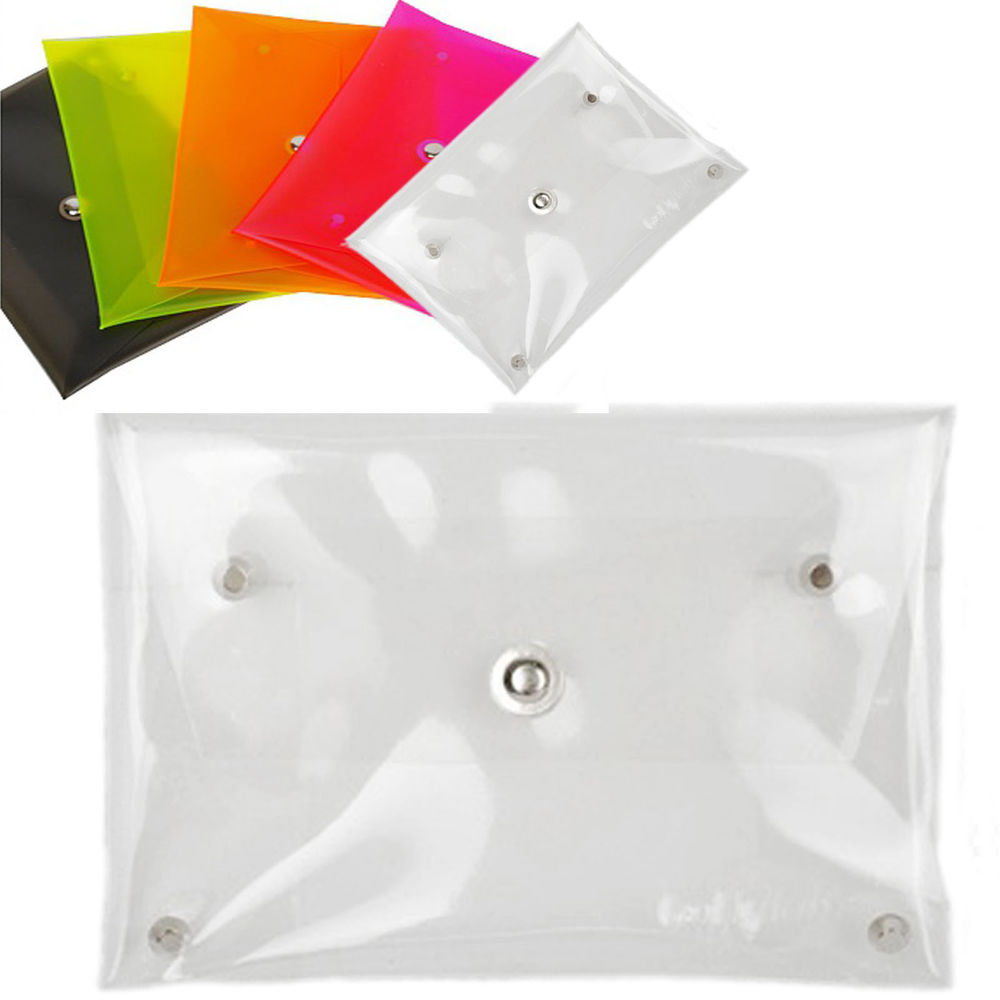 Neon Clear see through vinyl PVC transparent envelope ...