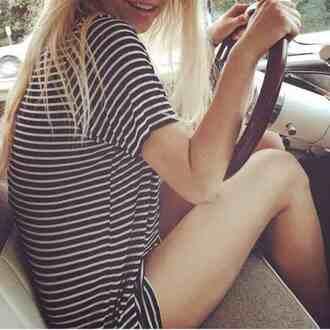 dress brandy melville t-shirt stripes