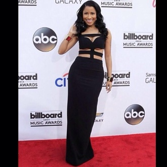 dress maxi dress little black dress cut-out dress long black dress nicki minaj fitted maxi