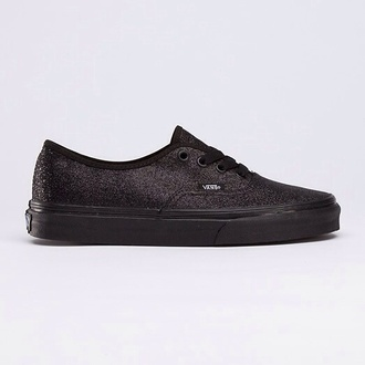 shoes vans vans authentic all black black vans authentic stitch glitter