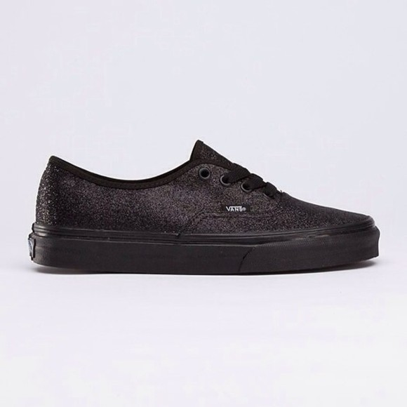vans vans authentic shoes vans, authentic, white, silver, stitch, glitter all black black vans