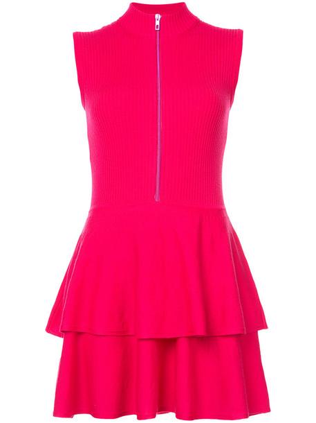 BOUTIQUE MOSCHINO dress women wool purple pink