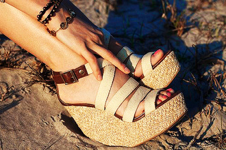shoes sandal wedge high heels sandals