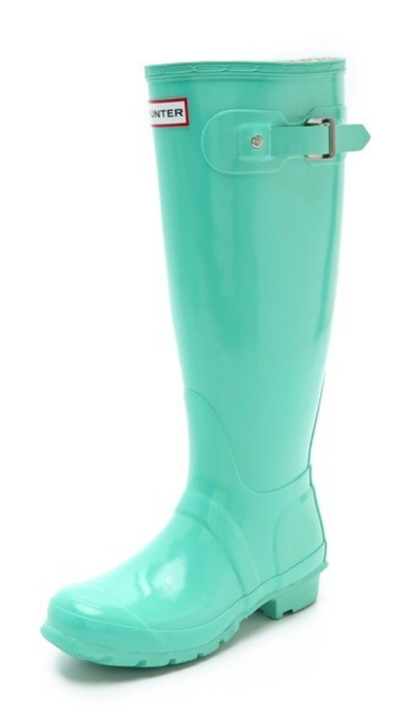 MINT GREEN HUNTER RAIN BOOTS on The Hunt