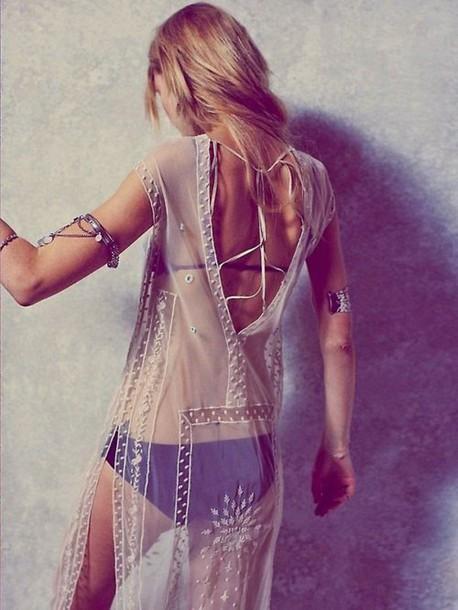 0c7af53d1 dress beaded sheer see through dress sheer cover up cover up swim cover  white white dress