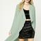Longline drape-front jacket
