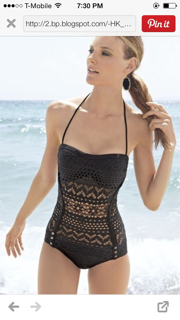 swimwear black lace swimwear gorgeous sexy robin piccone penelope crochet overlay one piece swimsuit crochet one piece swag swimsuit