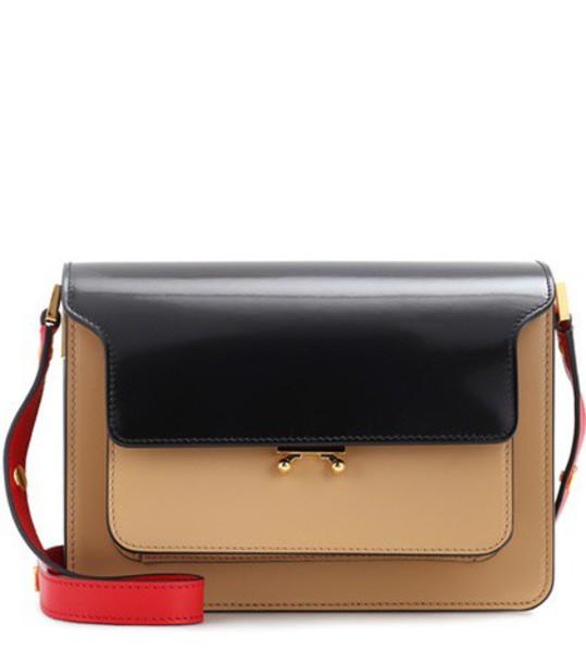 MARNI bag shoulder bag leather beige