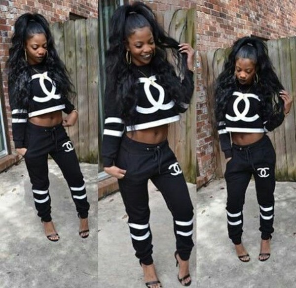 Outfit Black Girl Killing It: Sweater: Crop, Outfit, Tumblr Outfit, Baddies, Bad Bitches