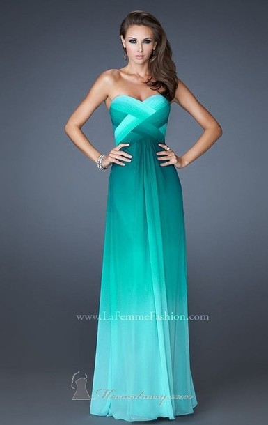 Dress: turquoise dress- maxi dress- strapless dress - Wheretoget