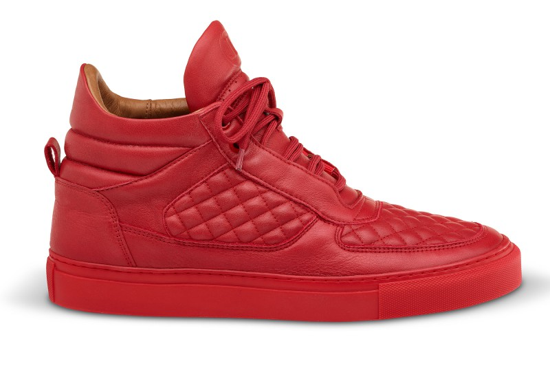 Leandro Lopes Mid Top Faisca Red Shop | Leandro Lopes Handmade Designer Sneaker from Europe