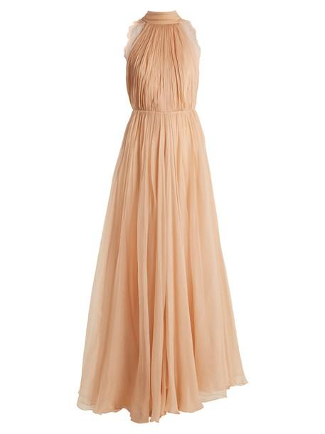 dress silk light pink light pink