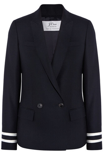 blazer navy wool jacket