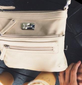 bag beige handbag cream creambag purse