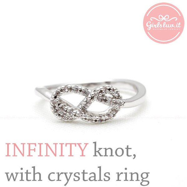 jewels jewelry infinity ring infinity infinity knot infinity knot ring eternity ring anniversary gift forever ring