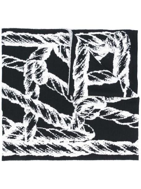 women scarf black wool