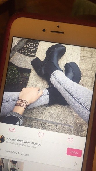 shoes black boots cute need