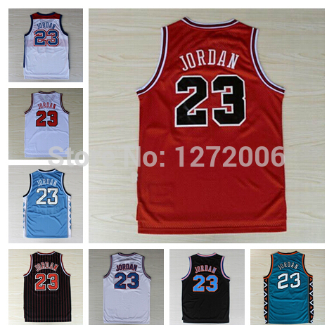 90ed17555bc Cheap Michael Jordan Jersey Retro Chicago 23 Michael Jordan Basketball  Jerseys North Carolina All Stiched Logo ...