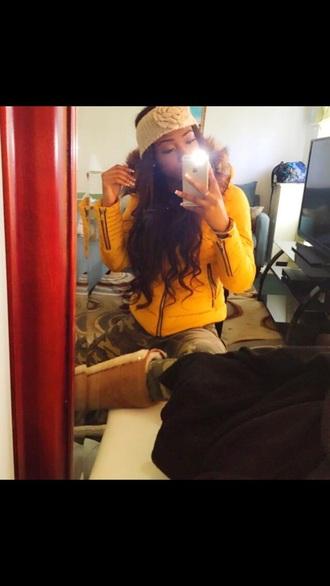 fur coat jacket yellow coat yellow dress yellow yellow jacket fur tinka