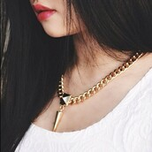 jewels,necklace,choker necklace,gold,shirt