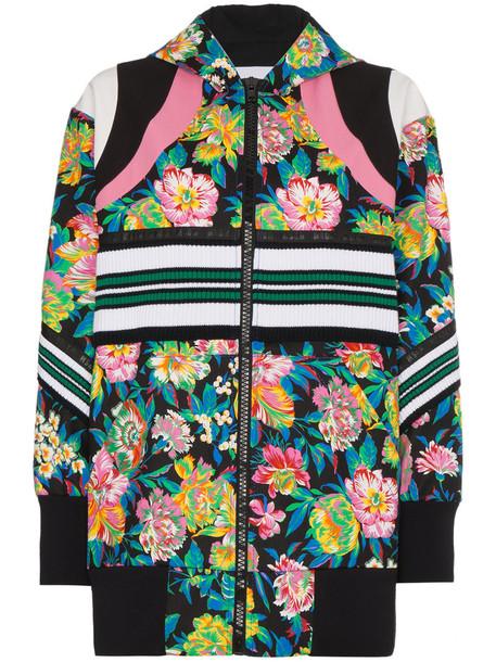 MSGM women spandex floral cotton jacket