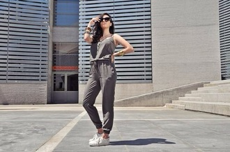 jumpsuit grey sleeveless