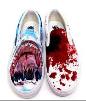shoes shark shark teeth shark tooth blood vans teeth printed vans sea creatures